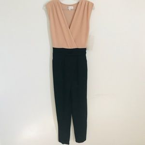 Honey and Rosie NWT Black & Tan Jumpsuit sz M